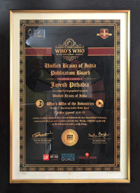 Award received by Flow Ink, India's largest card board printing ink manufacturers and suppliers for printing industries